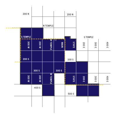 Central Business District Project Area Map